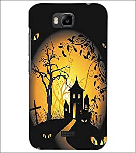 HUAWEI HONOR BEE GHOST HOUSE Designer Back Cover Case By PRINTSWAG