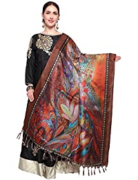 Mrinalika Fashion Cotton Silk Digital Print Dupatta (Dupattas For Womens _Salwar Suit Dgdpt05_Multi-Coloured_Free...