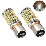 Bonlux 2-Pack 1157 Ba15d LED Birne 5W SBC Doppelkontakt Bajonett Parallel Pin Basis 10-30V DC 1076 1130 1176 1142 LED Ersatzbirne 50W Ersatz für Car RV Camper Beleuchtung (Cool White)