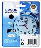 Epson Original T2701 Tintenpatrone Wecker, wisch- und wasserfeste Tinte (Singlepack) schwarz
