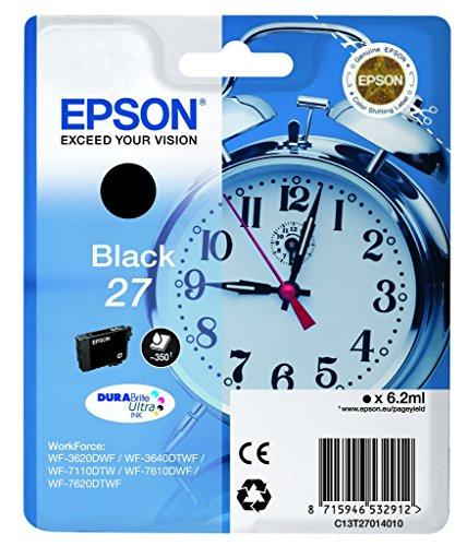 epson wf3640 Epson Original T2701 Tintenpatrone Wecker, wisch- und wasserfeste Tinte (Singlepack) schwarz