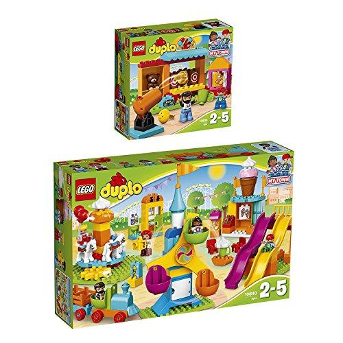 Lego DUPLO 2er Set 10840 10839 Großer Jahrmarkt + Wurfbude