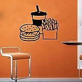 yiyitop Fast Food Mur Declas Hot Dog Boutique Logo Mur Fenêtre Autocollants...