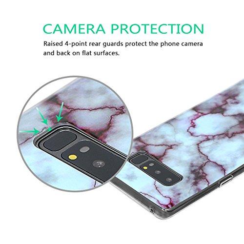 xhorizon MLK [Modèle de marbre] Couverture d'étui avec peau de bonbons en Caoutchouc souple TPU léger et ultra mince pour Samsung Galaxy Note 8 avec 9H film de protection verre trempée #05