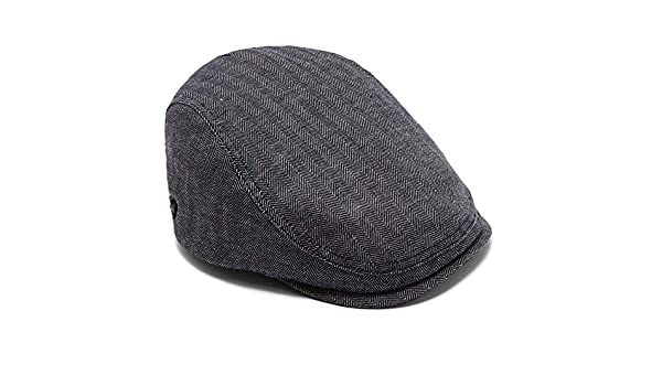 754093c83fec4 Ted Baker Ricepud Blue Linen Herringbone Flat Cap  Amazon.co.uk  Clothing