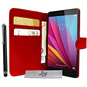 Etui Housse Luxe Rouge Portefeuille Honor 5X + STYLET et 3 FILM OFFERT!!