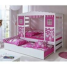 prinzessin bett mit ausziehbett wei rosa pharao24 - Prinzessin Bett Baldachin Mit Lichtern