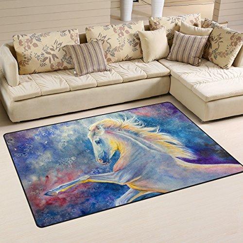 ingbags Super Weich Moderner Pferd Malerei Aquarell, ein Wohnzimmer Teppiche Teppich Schlafzimmer...