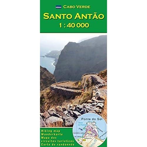 Cabo Verde: Santo Antao 1:40000 (Carte de randonnée et de loisirs du Cap-Vert)