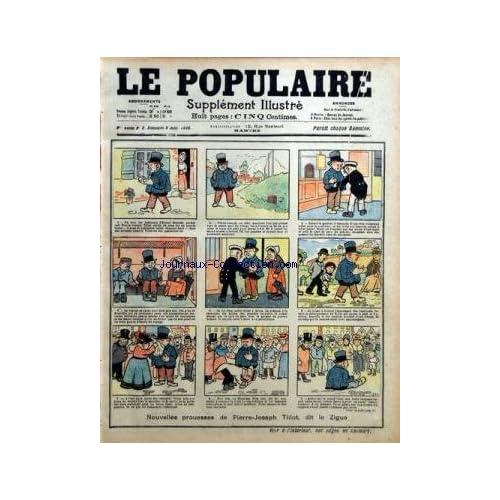POPULAIRE ILLUSTRE (LE) [No 2] du 08/01/1905 - NOUVELLES PROUESSES DE PIERRE-JOSEPH TILLOT DUT LE ZIGUE L'ALIMENTATION EN FRANCE PAR DEPAQUIT
