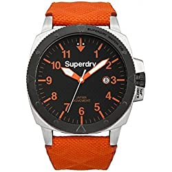 Superdry Gents Trident Rescue SYG149O watch with Orange Strap and Black Dial