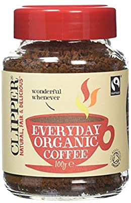 Clipper Fairtrade Rich Roast Organic Instant Coffee Granules 100 g (Pack of 3) by Clipper Teas Ltd.