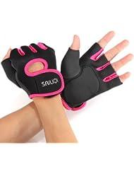 Gants sport halterophilie aviron Boxe Fitness Bodybuilding Gym Velo Cyclisme VTT Sport Gloves fitness musculation S noir rose