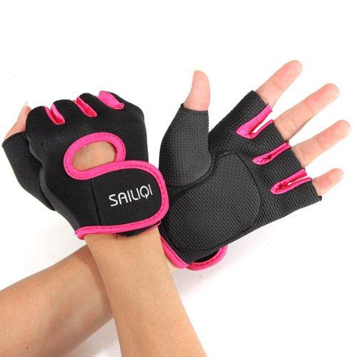 Gants sport halterophilie aviron Boxe Fitness Bodybuilding Gym Velo Cyclisme VTT Sport Gloves fitness musculation M noir ros