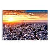 !!! SENSATIONSPREIS !!! ge Bildet® hochwertiges Leinwandbild - View of Paris - Frankreich - 30 x 20 cm einteilig 2211 B