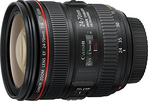 Canon 24-70 mm f/4 L IS USM EF – Objetivo para Canon (distancia focal 24-70 mm, apertura f/4-22, estabilizador, diámetro: 77mm), negro