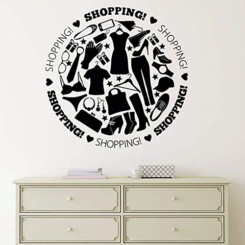Zmyz sticker da muro adesivi murali in vinile negozio per lo shopping adesivi murali da donna love art decoration 57 * 57cm