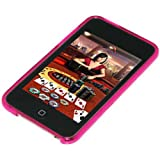 Amzer - Cover posteriore in gel con motivo a rombi per iPod Touch 2G / 3G, colore: Rosa shoking