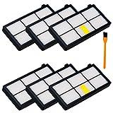 6 pcs filtre HEPA pour iRobot Roomba 800 870 871 880 980 981 Aspirateur, Honfa kit de...