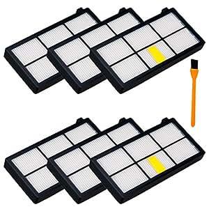 Hongfa 6pcs filtro HEPA per iRobot Roomba 800 870 880 980 filtri di ricambio per aspirapolvere, Honfa kit (800 Series, 900 SERIES)