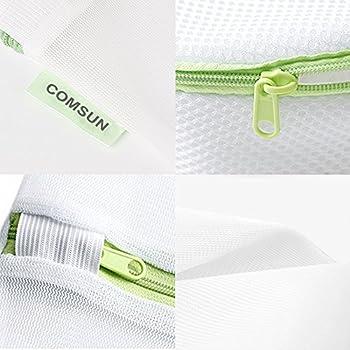 Comsun Wäschenetze Set, Premium Wäschebeutel, Wäschesack, Wäschetasche Mit Reißverschluss, Ideal Für Für Waschmaschine, Wiederverwendbar (Weiß) 6