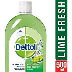Dettol Disinfectant Multi-Purpose Liquid Lime Fresh- 500 ml