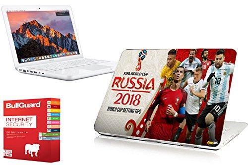 Apple MacBook A1342 Unibody Intel Core 2 Duo 2.26-2.4GHz Smart DVD MAC OS X Sierra with WORLD CUP 2018 PRINT, 4GB RAM, 128GB SSD (Certified Refurbished)