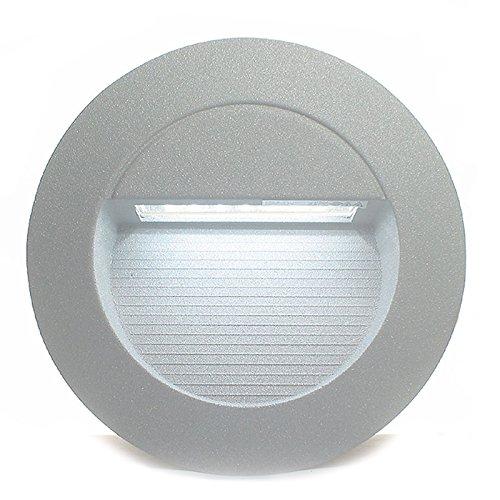 Z-05-balance (5er Set RAYON rund (1-5er Sets) LED Kalt-Weiß 230V IP65 Wandeinbauleuchte Einbaustrahler Stufenbeleuchtung außen Wandleuchte Treppenleuchte Treppenlicht Sicherheitslicht)
