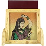 Ganga Craft House Gemstone Mobile Stand Pine Wooden Handmade Painting