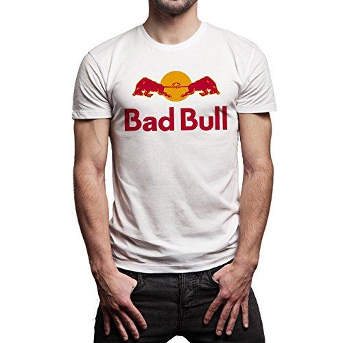 Bad-Bull-Red-Layer-0.jpg Herren T-Shirt Weiß