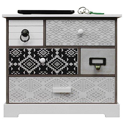 Eine Schublade Schrank Fertig (Schrank mit 5 Schubladen 33x30x12cm Schmuckschrank Badezimmerschrank Badschrank Schmuckbox Organizer für Bad Büro Haushalt)