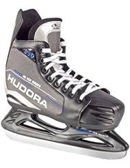 Hudora - Patines de hockey sobre hielo para niños, ajustables, tallas 28 a 39 multicolor negro/gris Talla:Gr. 32-35