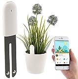 Royal Gardineer Zubehör zu Pflanzenwächter: 4in1-Pflanzensensor m. Bluetooth, App-Kontrolle, 1 Jahr Laufzeit, IPX5 (Pflanzensensor kabellos)