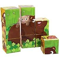 Goula 9 cubos de diseño animales del bosque (Diset 53419)