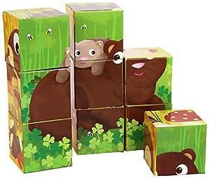 Goula - 9 Cubos de diseño Animales del Bosque (Diset 53419)
