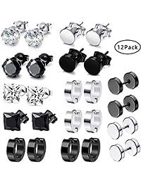 Scaffolding Industrial Barbell Ear Piercing Stud Earring Men/'s Women/'s Spike HU