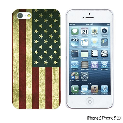 OBiDi - Flag Pattern Hard Back Case / Housse pour Apple iPhone SE / Apple iPhone 5S / 5 - Germany America