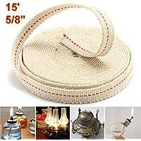 flach 0,79 cm breit 1 m Rolle Kerosin Baumwolle Rot JimTw-UK /Öllampe Mate