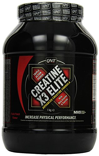QNT MAS, Creatine X3 Elite, Geschmack Fruits Punch, 1er Pack (1 x 1 kg) -