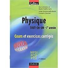 """Physique """"Tout en un"""", 1re année : Cours avec exercices corrigés - MPSI-PCSI-PTSI"""