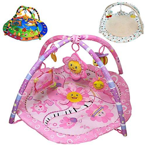 Monsieur Bébé ® Tapis d'éveil éducatif et musical + jouets - Trois modèles - Norme EN 71