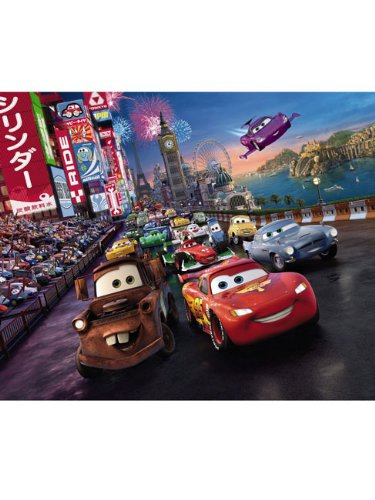 komar-disney-pixar-cars-race-papier-peint-en-vinyle-multicolore-set-de-4-pieces