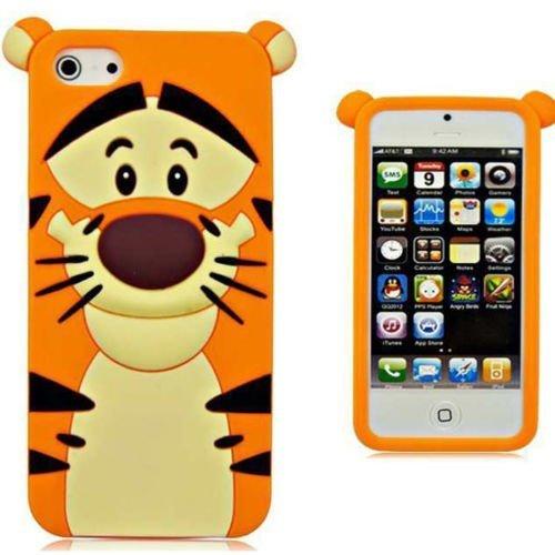 iPhone 6Plus iPhone 6S Plus Fall, Phenix-Color 3D Cute Cartoon Monster Blau Giant Horn Universität Stil Silikon Gummi Fall für iPhone 6S Plus 14cm, Tiger (Iphone Fall Hello Plus Kitty 6)
