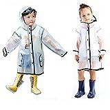 GagibitBest Kids Raincoat - EVA Baby Rain Jacket Impermeabile con Cappuccio Divertente Leggero per Ragazzi o Ragazze (XL, Age for 8-11)