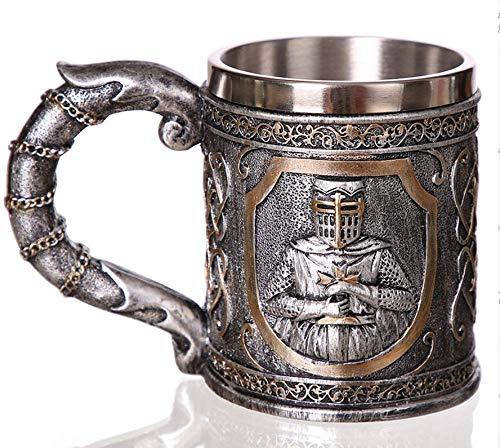 fdsgbdsff 3D Viking SchädelKaffee Bierkrug Krug Personalisierte Original Schädel Becher für Home Bar Bier Wein Getränk Geschenk für Männer Kaffeetasse