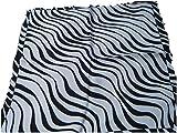 Halstuch/Schal, quadratisch, Cool Seiden-Haptik, Schwarz Plaids Muster, weiß, Stewardess Nacken, Kopf Damen Handtasche Mehrfachbenutzung