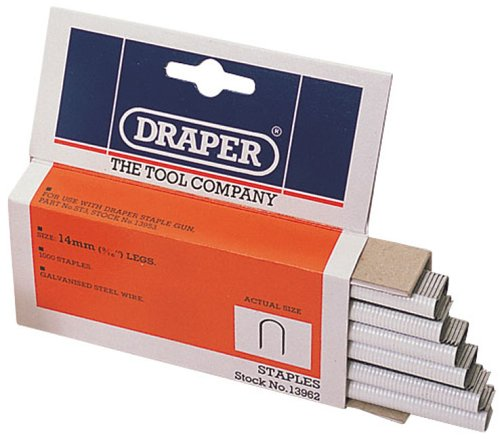 Draper 13962 Lot de 1 000 agrafes pour câbles