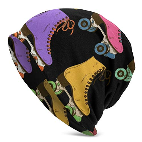 best gift Rollschuhe Bedruckte Strickmütze Wintermütze Warme, Dehnbare, weiche Beaniemützen für Männer und Frauen. Ganzjähriger