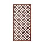 GrecoShop Grid / Steccato / Wood ralla panel tratado para jardín y terraza 180x90cm