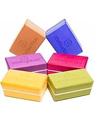 Yogablock »Adhipa« - EXTRA DICK - erhältlich in den Trendfarben: Erdbraun Moosgrün Bordeaux Currygelb Lila / Der ideale Yogaklotz aus gehärtetem Schaumstoff (Hartschaum) / REACH geprüft (keine Schadstoffe) der Yoga Brick ist ein praktisches Hilfsmittel (Yogazubehör) für eine Vielzahl an Yogaübungen / Asanas: Gesamtgewicht liegt bei ca.300g / Größe 23x15x10cm
